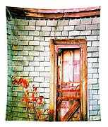 Abandonded Farm Door Tapestry