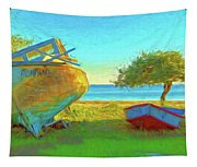 Abandoned Boats On Choctawhatchee Bay Tapestry