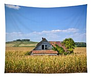 Abandoned Corn Field House Tapestry