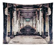 Abandoned Industrial Building Tapestry
