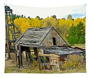 Abandoned Mine In Autumn Tapestry