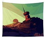 Abandoned On An Alien World Tapestry