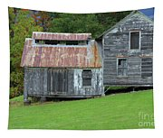 Abandoned Shack By The Road Tapestry