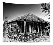 Abandoned Stone House Tapestry