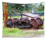 Abandoned Wheels Tapestry