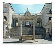 Abbey Of Montecassino Courtyard Tapestry