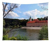 Abbey Weltenburg And Danube River Tapestry