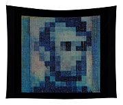 Abe In Light Blue Tapestry