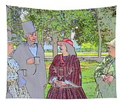Abe Talks To The Ladies Tapestry