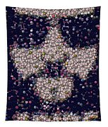 Abide Bottle Cap Mosaic Tapestry