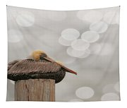 Above It All - Brown Pelican Tapestry