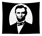 Abraham Lincoln - Black And White Tapestry