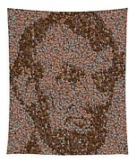 Abraham Lincoln Penny Mosaic Tapestry