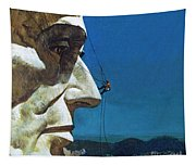 Abraham Lincoln's Nose On The Mount Rushmore National Memorial  Tapestry