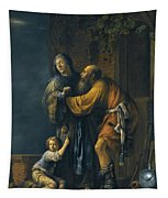 Abraham Pleading With Sarah On Behalf Of Hagar Tapestry