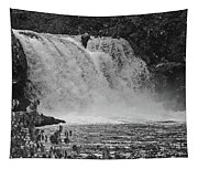 Abrams Falls Cades Cove Tn Black And White Tapestry
