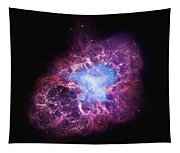 Abstract Heavenly Art - The Crab Nebula Tapestry