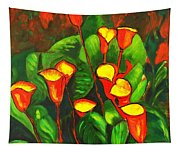 Abstract Arum Lilies Tapestry