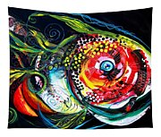 Abstract Baboon Fish Tapestry