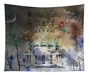 Abstract Birds In A Swirl Of Sky Colors Tapestry