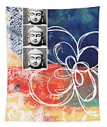 Abstract Buddha Tapestry