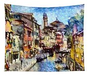Abstract Canal Scene In Venice L B Tapestry