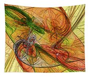 Abstract Color Swirls Tapestry