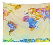 Abstract Earth Map 2 Tapestry