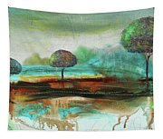 Abstract Fantasy Landscape Tapestry