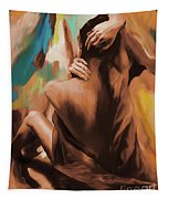 Abstract Female Back  Tapestry
