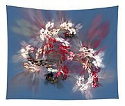 Abstract Floral Fantasy  Tapestry