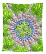 Abstract Fractal Art Greenery Rose Quartz Serenity Tapestry