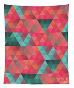 Abstract Geometric Colorful Endless Triangles Abstract Art Tapestry