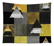 Abstract Geometric Square And Triangle Design Tapestry