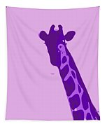 Abstract Giraffe Contours Purple Tapestry