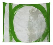 Abstract Green Circle 2- Art By Linda Woods Tapestry