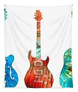 Abstract Guitars By Sharon Cummings Tapestry by Sharon Cummings