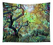Abstract Japanese Maple Tree 3 Tapestry
