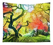 Abstract Japanese Maple Tree 5 Tapestry
