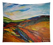 abstract landscape-Haloze Tapestry
