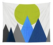 Abstract Mountains And Sun Tapestry