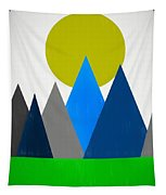 Abstract Mountains Landscape Tapestry
