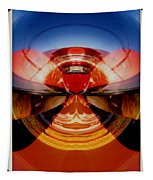 Abstract Old Car Spare Tire Tapestry
