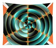 Abstract Radial Object Tapestry