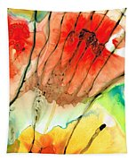 Abstract Red Art - The Promise - Sharon Cummings Tapestry
