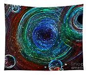Abstract Space Art. Sparkling Antimatter Tapestry
