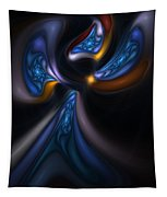 Abstract Stained Glass Angel Tapestry