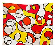 Abstract Swirls Tapestry