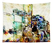 Abstract Train Tapestry