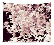 Abstract Tree Landscape Dark Botanical Art Rose Tinted Tapestry